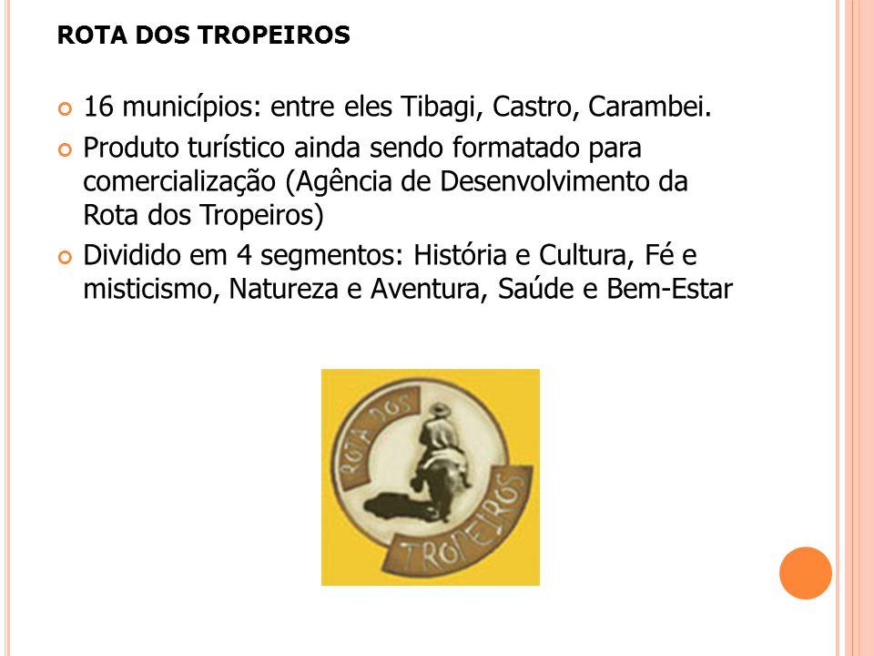 16 municípios: entre eles Tibagi, Castro, Carambei.