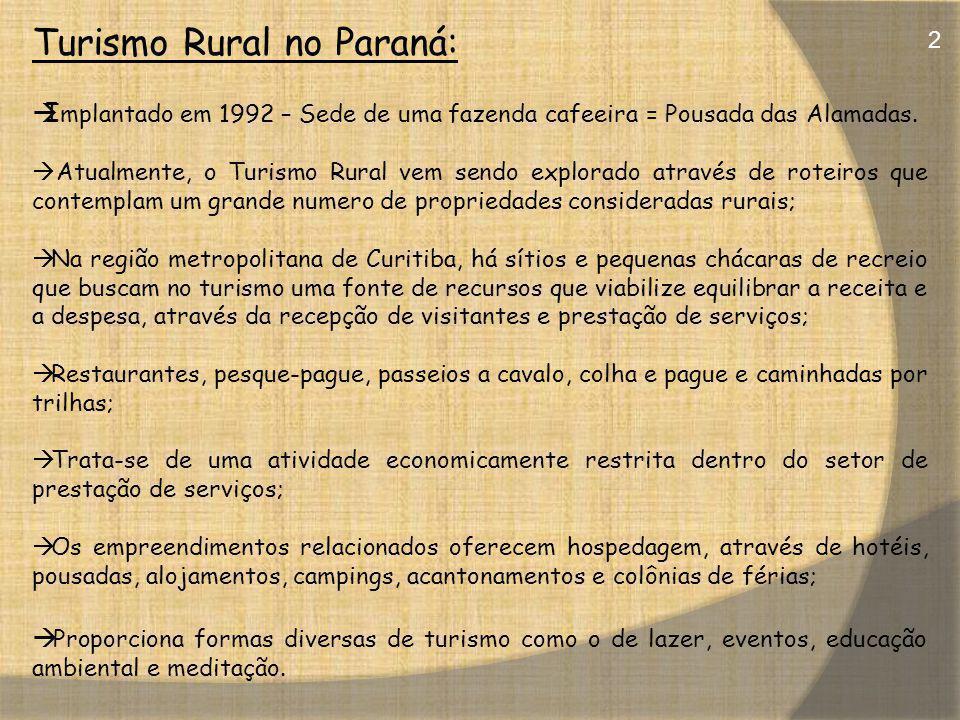 Turismo Rural no Paraná: