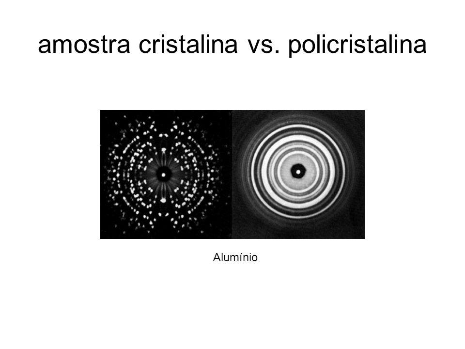 amostra cristalina vs. policristalina