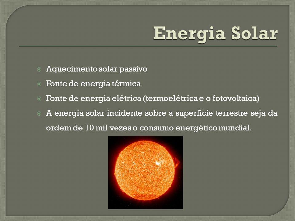 Energia Solar Aquecimento solar passivo Fonte de energia térmica