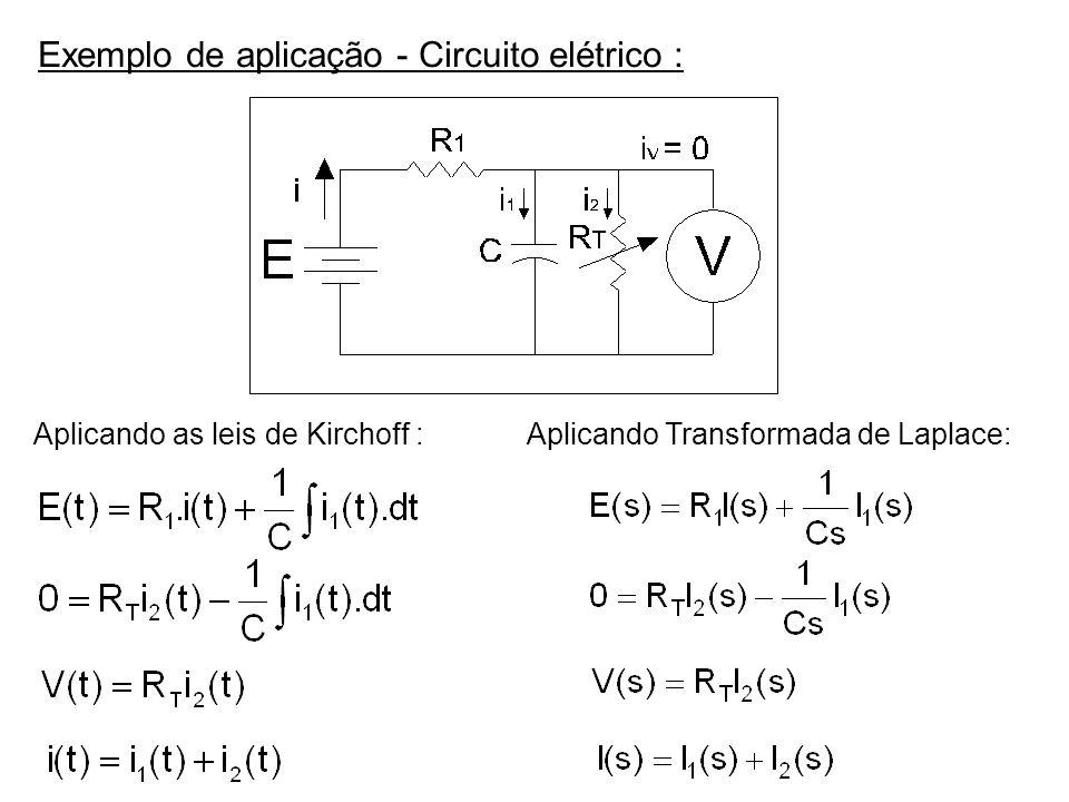 Exemplo de aplicação - Circuito elétrico :