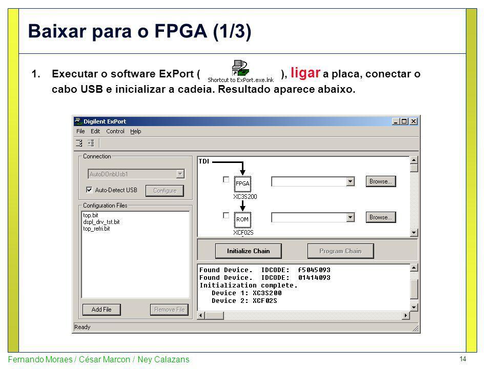 Baixar para o FPGA (1/3)