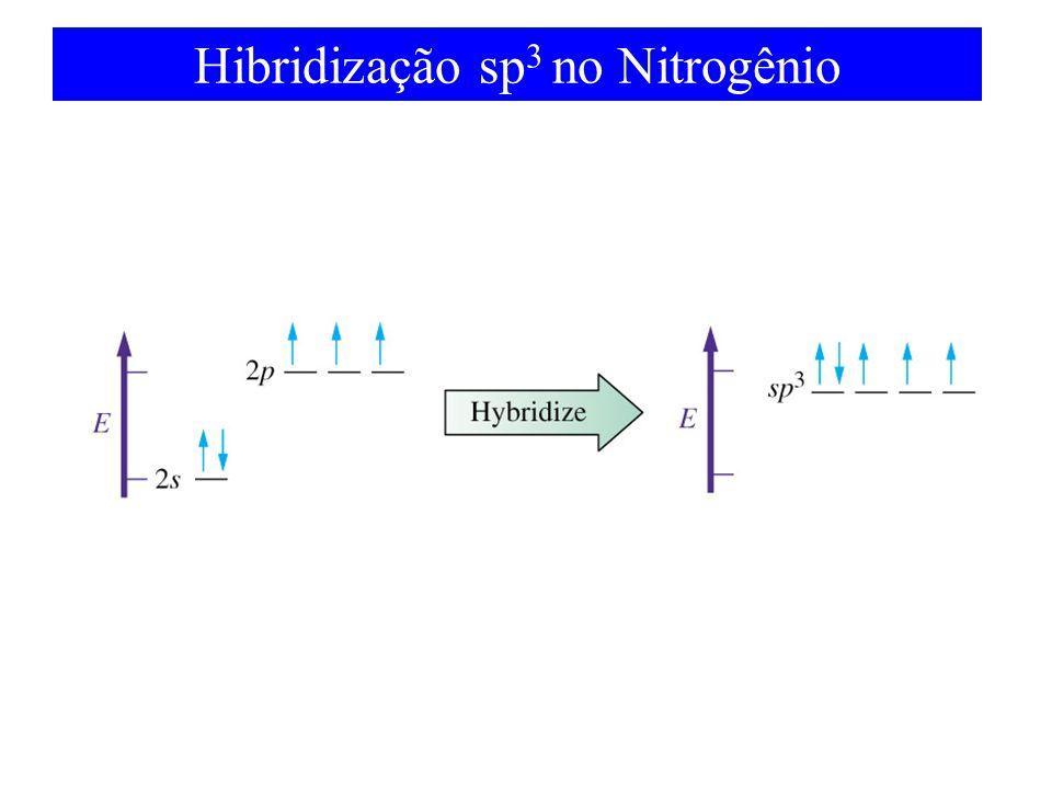Hibridização sp3 no Nitrogênio
