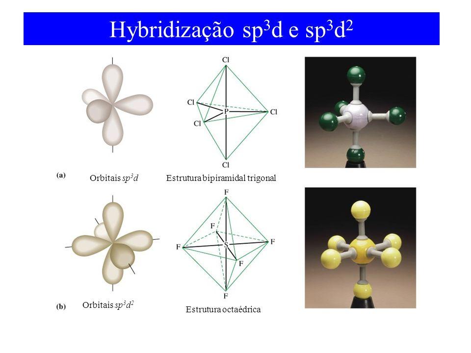 Hybridização sp3d e sp3d2 Orbitais sp3d Orbitais sp3d2