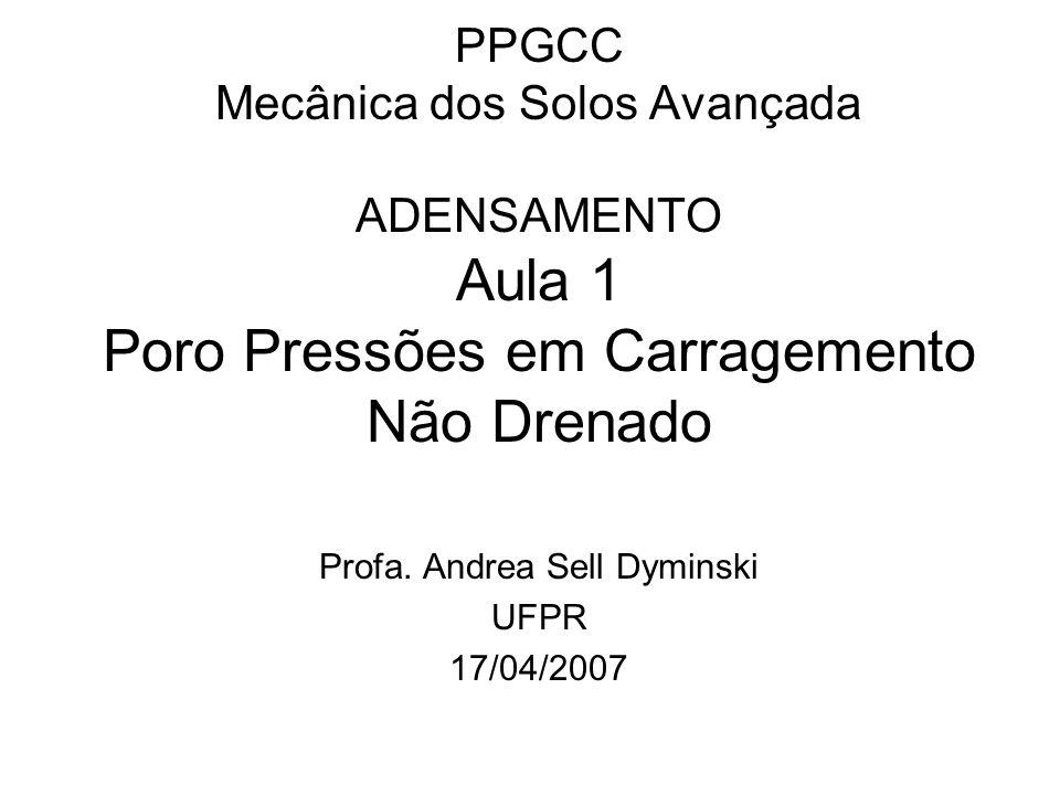 Profa. Andrea Sell Dyminski UFPR 17/04/2007