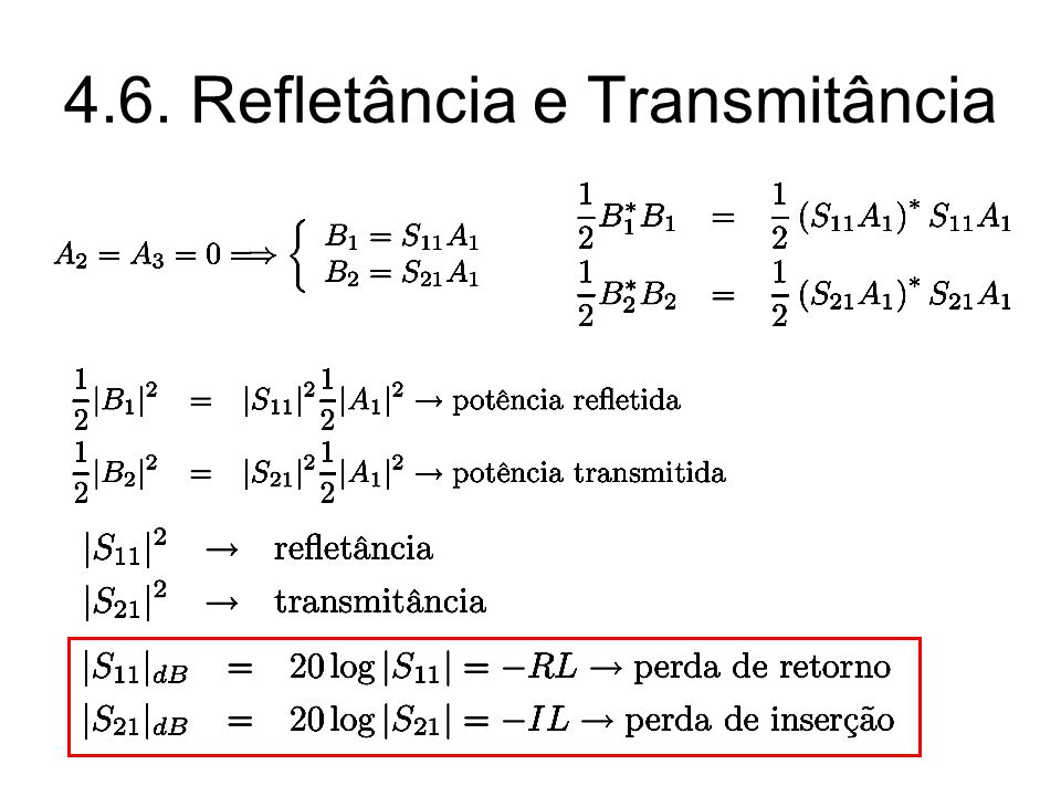 4.6. Refletância e Transmitância
