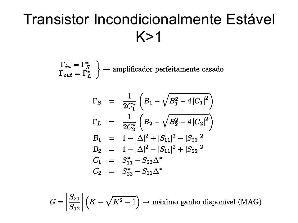 Transistor Incondicionalmente Estável K>1