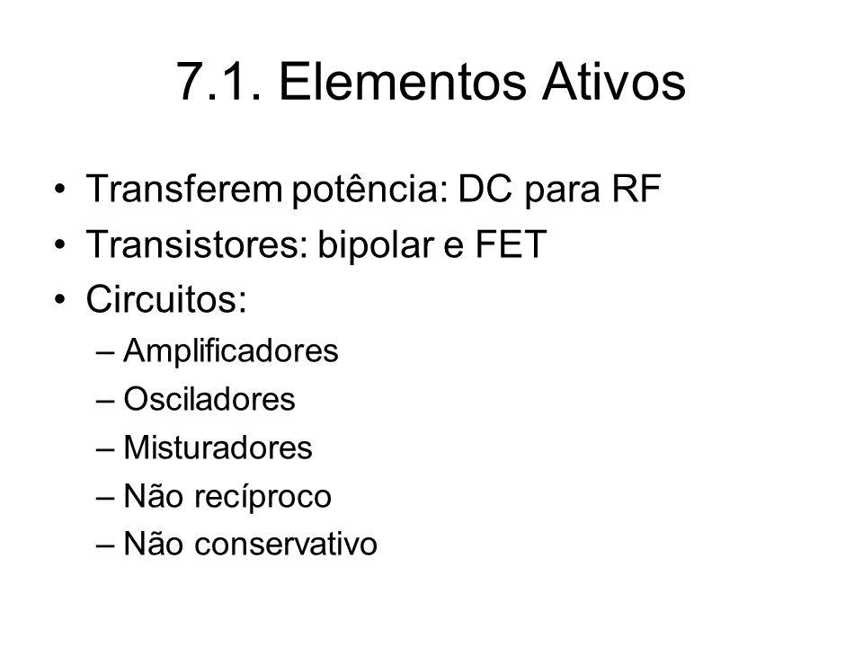 7.1. Elementos Ativos Transferem potência: DC para RF