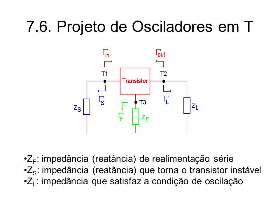 7.6. Projeto de Osciladores em T