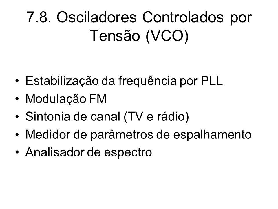 7.8. Osciladores Controlados por Tensão (VCO)