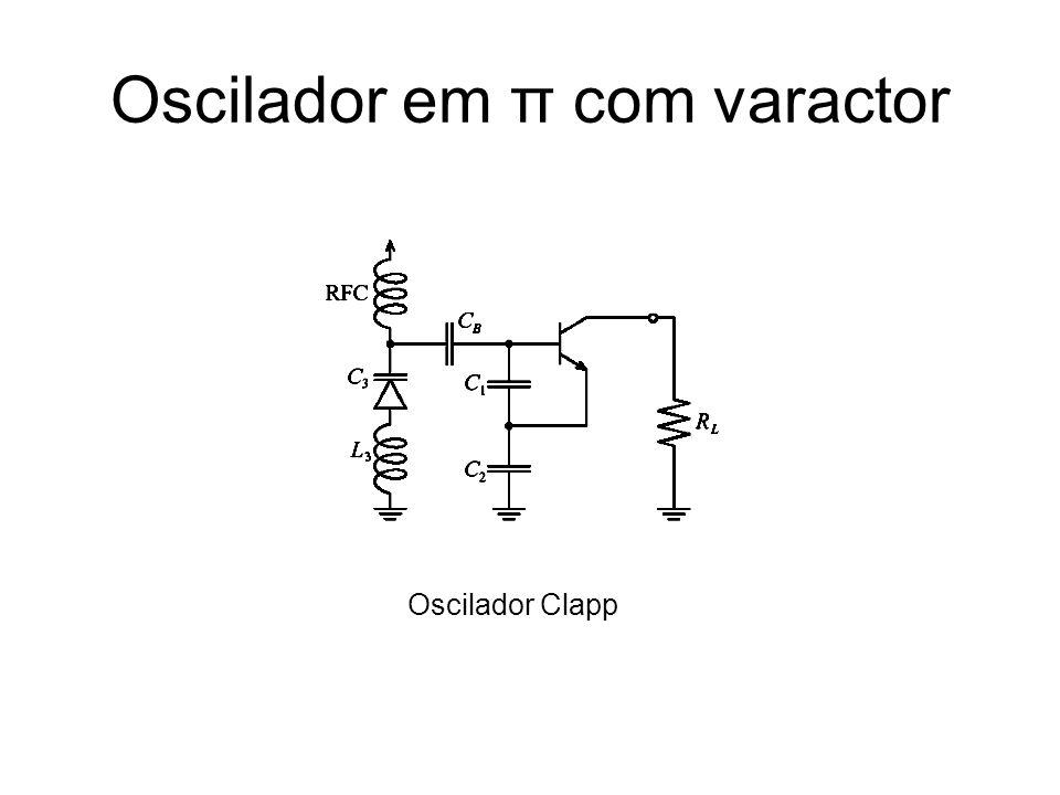 Oscilador em π com varactor