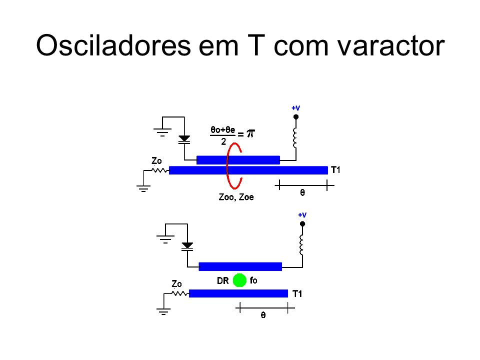 Osciladores em T com varactor