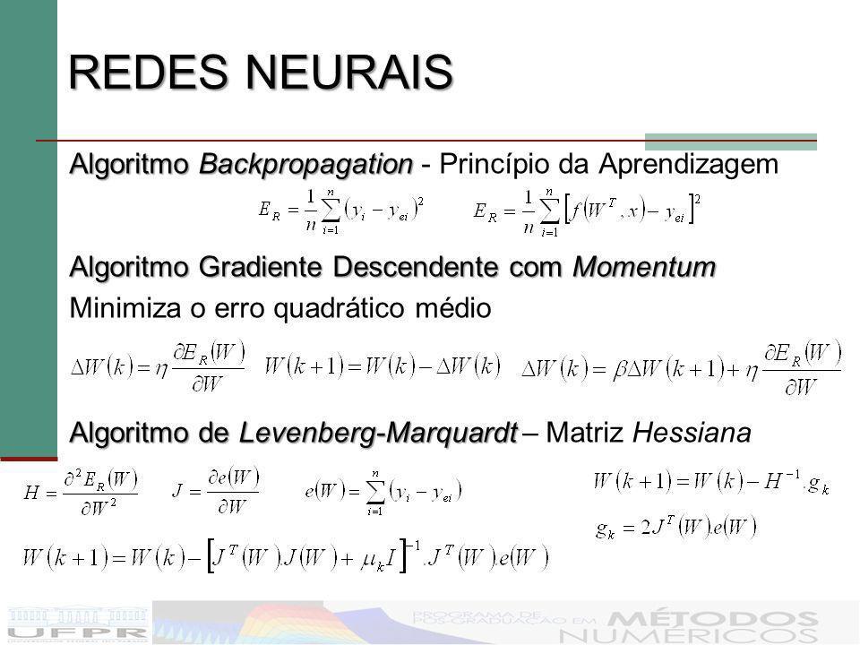 REDES NEURAIS Algoritmo Backpropagation - Princípio da Aprendizagem