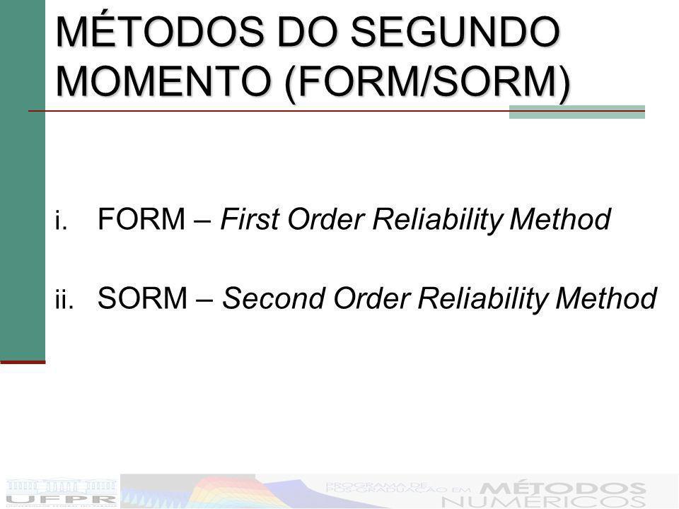 MÉTODOS DO SEGUNDO MOMENTO (FORM/SORM)