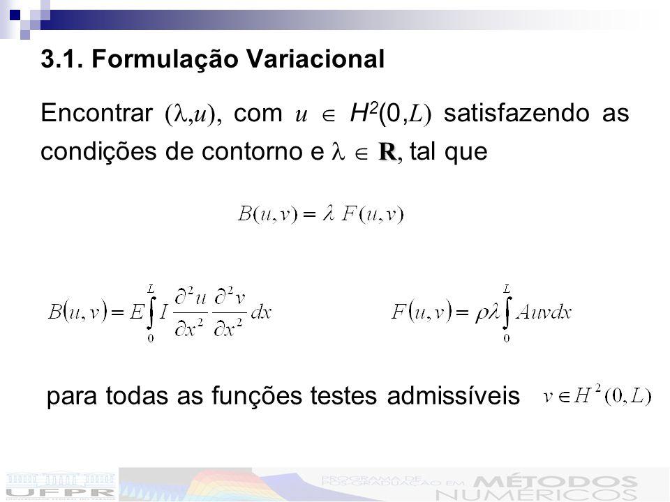 3.1. Formulação Variacional
