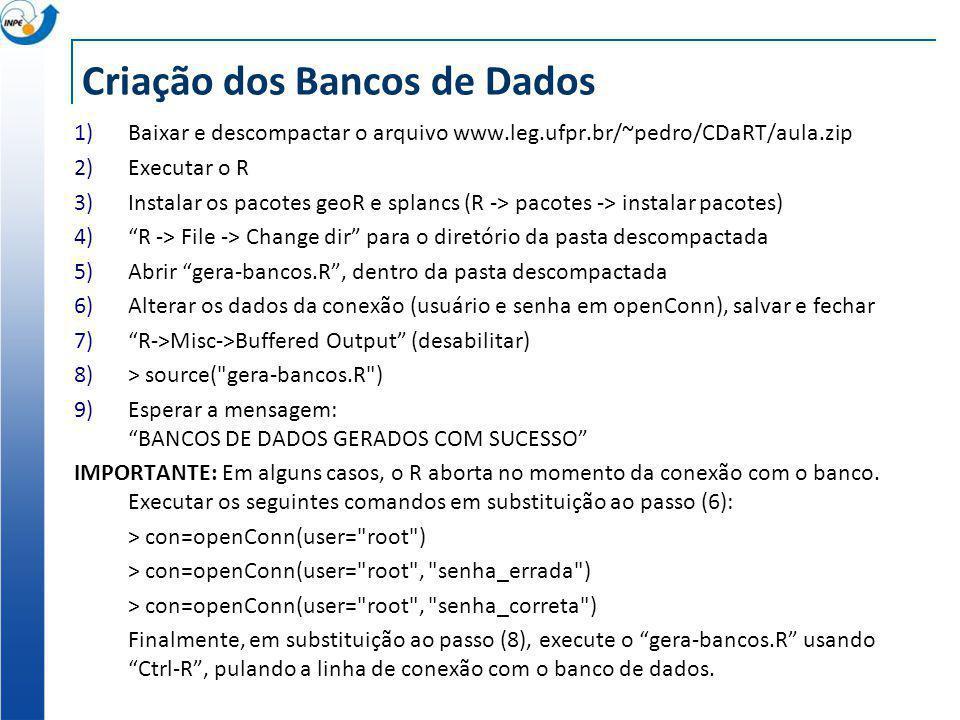 Criação dos Bancos de Dados