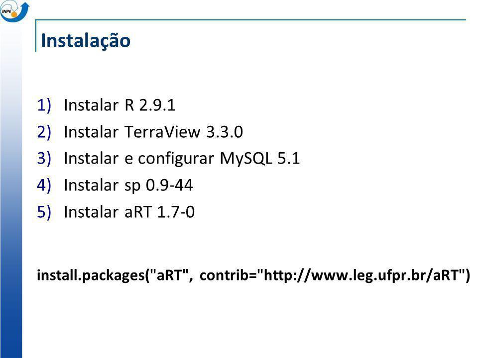 Instalação Instalar R 2.9.1 Instalar TerraView 3.3.0