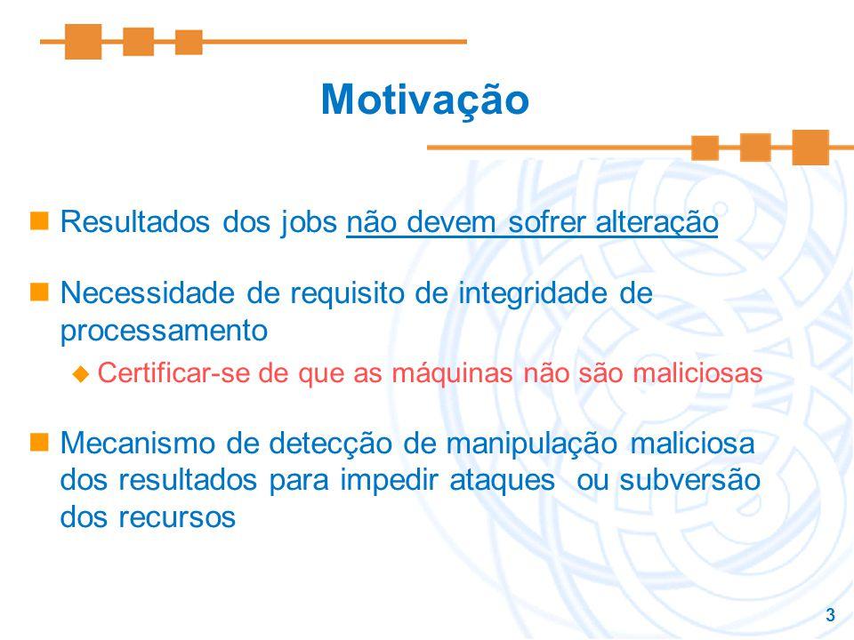 Motivação Resultados dos jobs não devem sofrer alteração