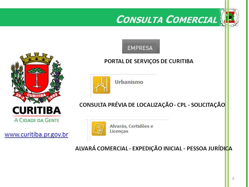 Consulta Comercial www.curitiba.pr.gov.br