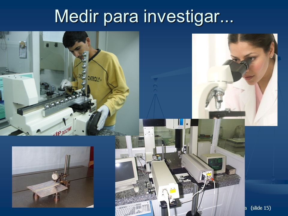 Medir para investigar... Metrologia (slide 15)