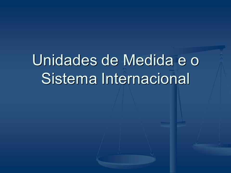 Unidades de Medida e o Sistema Internacional