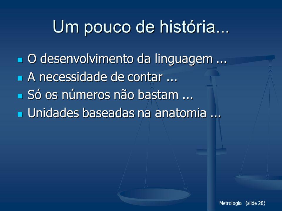 Um pouco de história... O desenvolvimento da linguagem ...