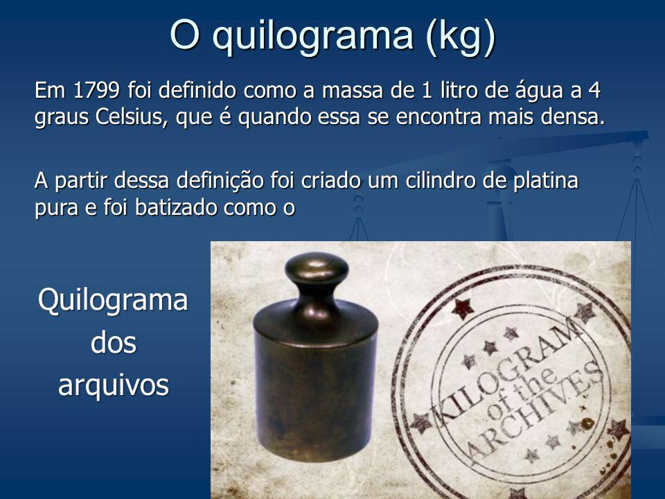 O quilograma (kg) Quilograma dos arquivos