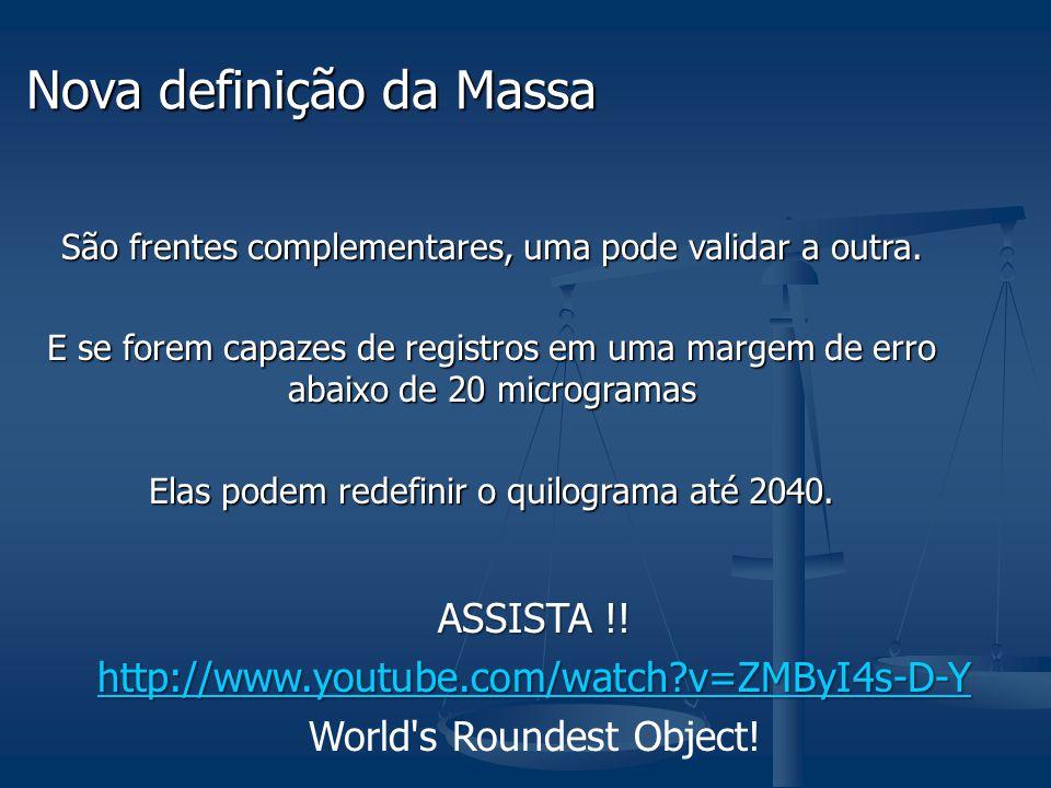 Nova definição da Massa