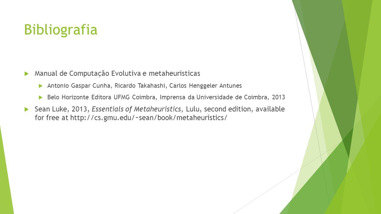 Bibliografia Manual de Computação Evolutiva e metaheuristicas