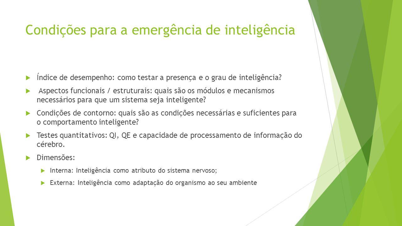 Condições para a emergência de inteligência