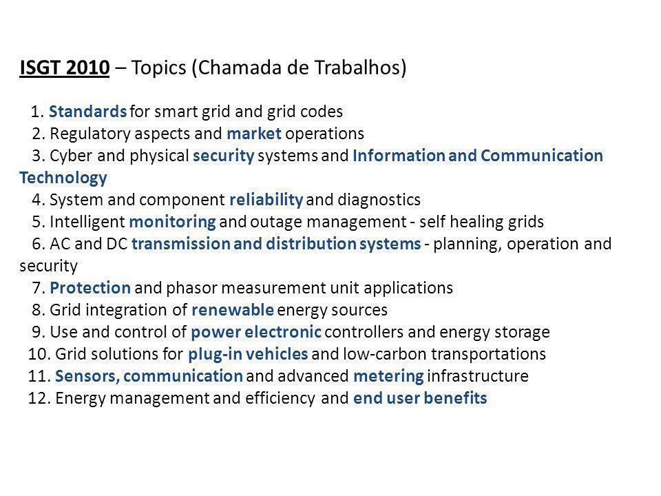 ISGT 2010 – Topics (Chamada de Trabalhos)