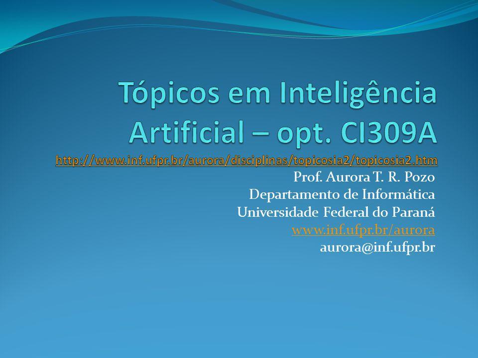 Tópicos em Inteligência Artificial – opt. CI309A http://www. inf. ufpr