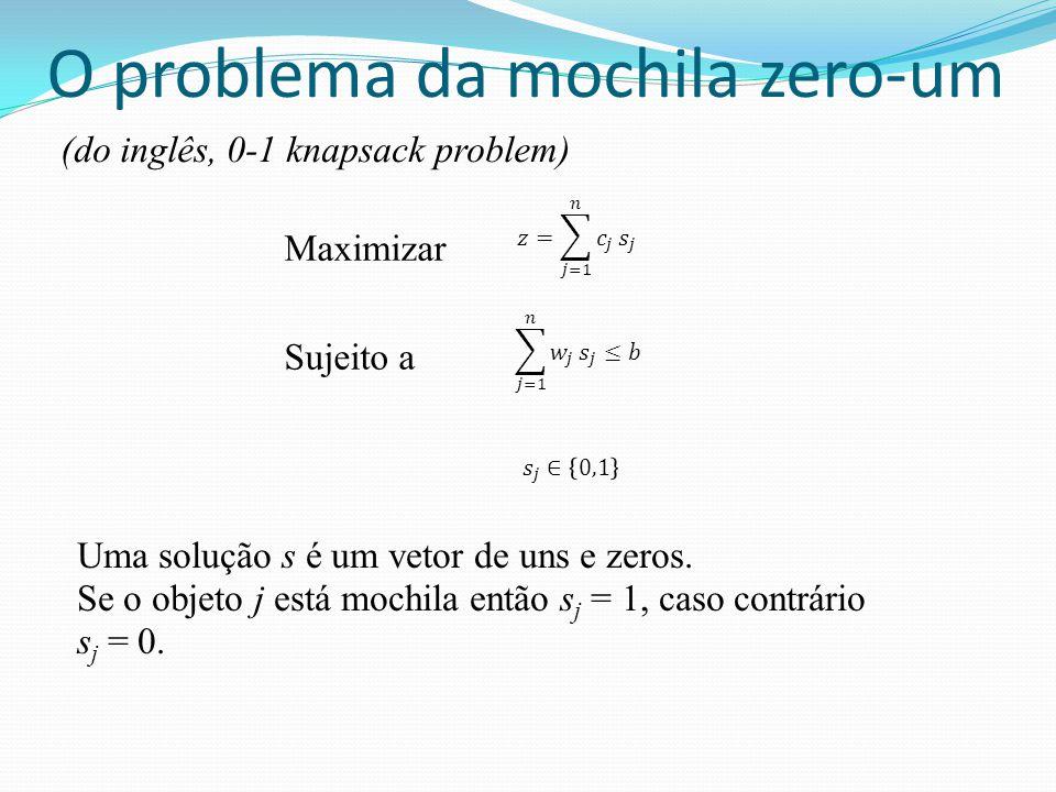 O problema da mochila zero-um