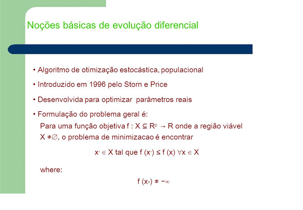 Noções básicas de evolução diferencial