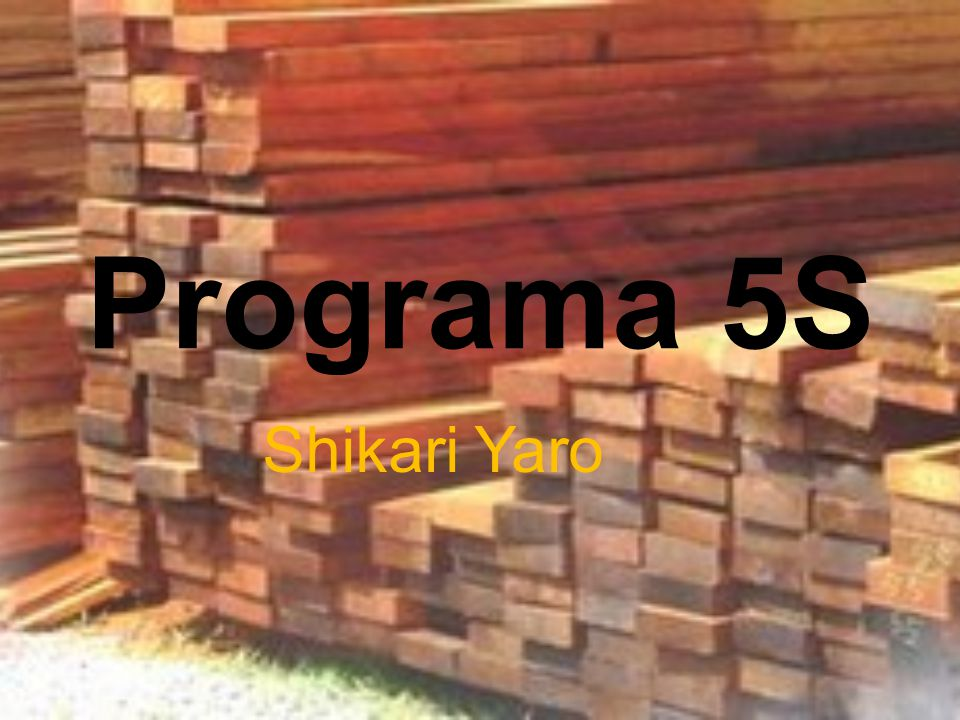 Programa 5S Shikari Yaro