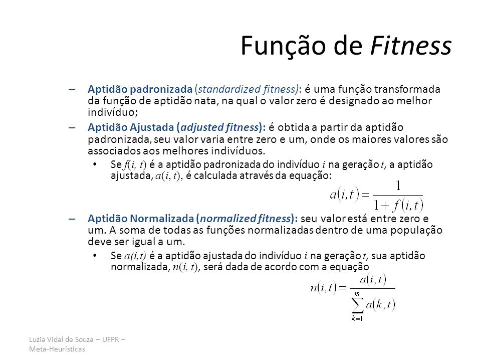 Função de Fitness