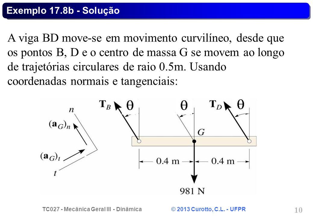 Exemplo 17.8b - Solução