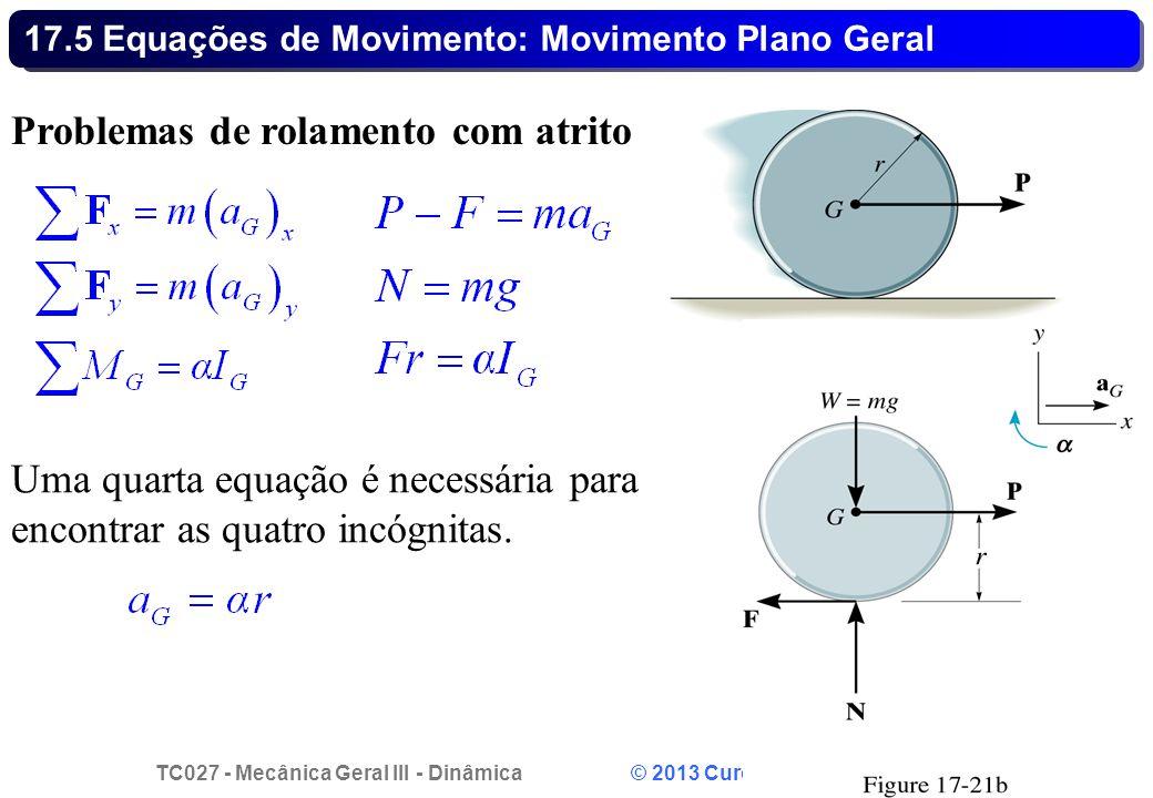 17.5 Equações de Movimento: Movimento Plano Geral