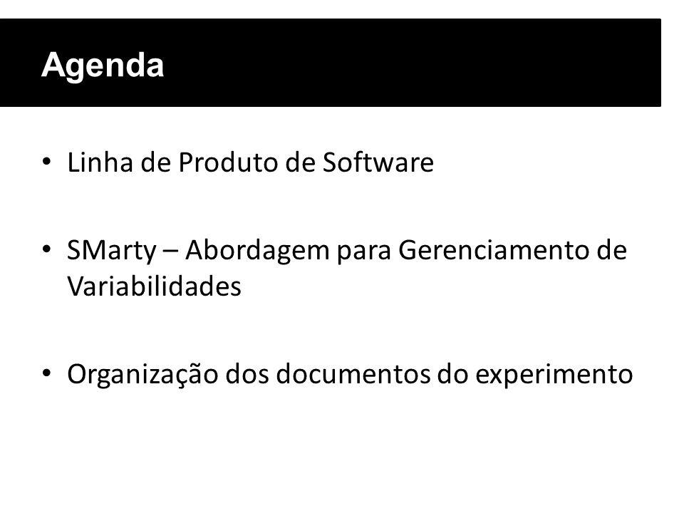 Agenda Linha de Produto de Software
