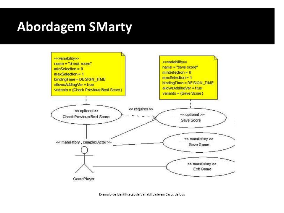 Exemplo de Identificação de Variabilidade em Casos de Uso