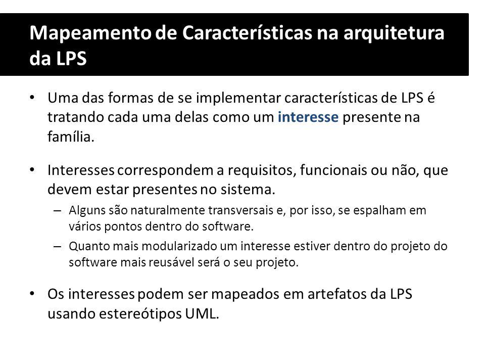 Mapeamento de Características na arquitetura da LPS