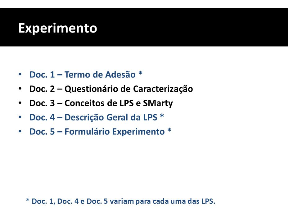 Experimento Doc. 1 – Termo de Adesão *