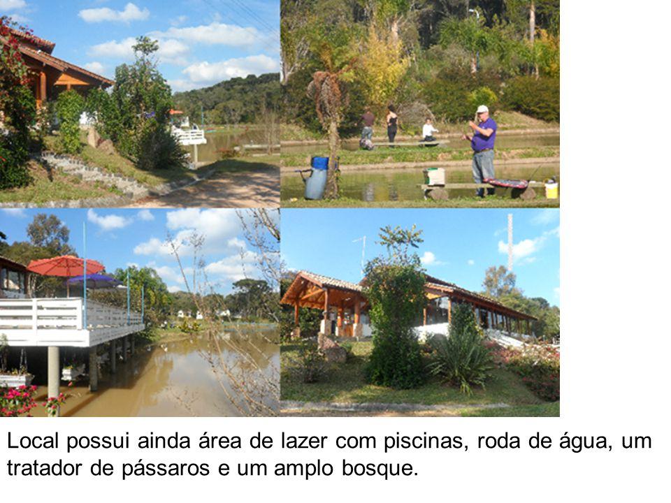 Local possui ainda área de lazer com piscinas, roda de água, um tratador de pássaros e um amplo bosque.