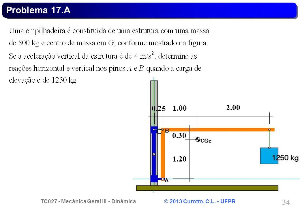 Problema 17.A 0.25 1.00 2.00 0.30 1.20