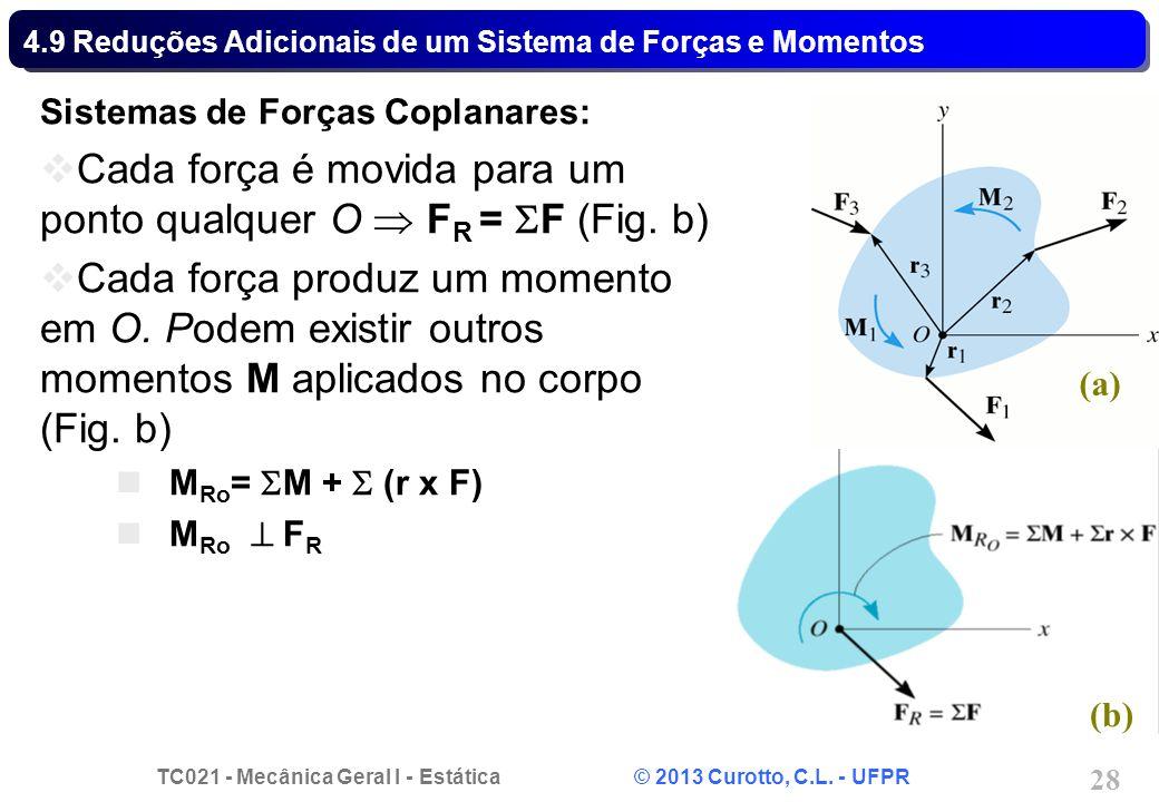 4.9 Reduções Adicionais de um Sistema de Forças e Momentos