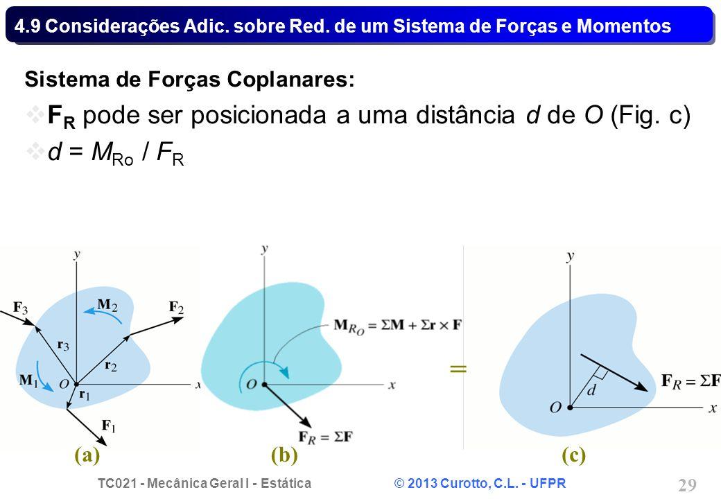 4.9 Considerações Adic. sobre Red. de um Sistema de Forças e Momentos