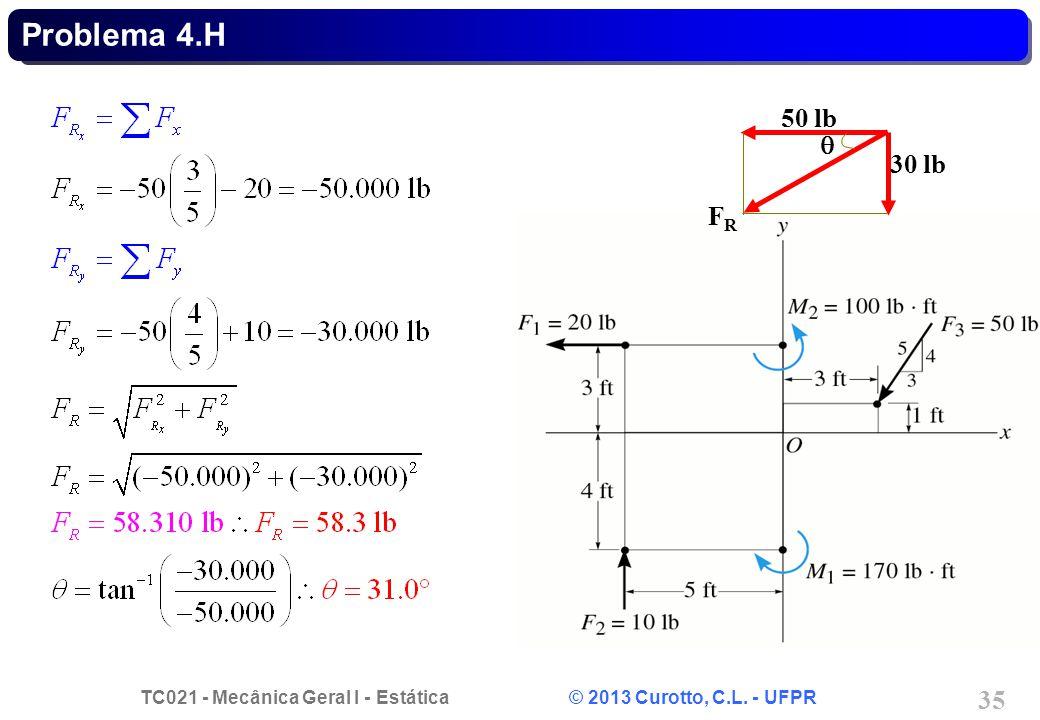 Problema 4.H q 50 lb 30 lb FR
