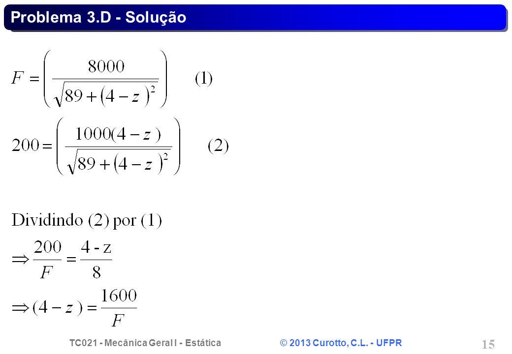Problema 3.D - Solução