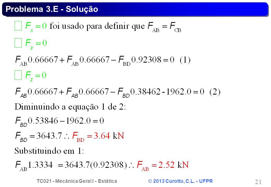 Problema 3.E - Solução
