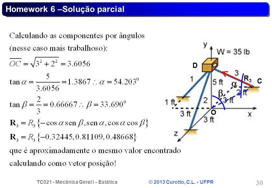 Homework 6 –Solução parcial